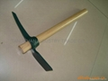 Pickaxe with Wood Handle