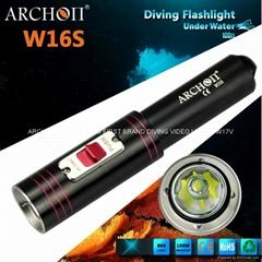 ARCHON奥瞳D10S专业强光潜水手电筒 LED潜水装备 探照灯防水充电远射860流明