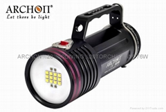 ARCHON WG76W Diving video torch Underwater Camera Light LED lamp 10000Lumens