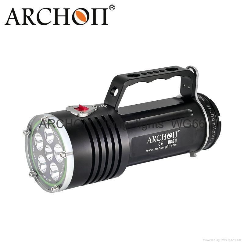 ARCHON奧瞳DG60專業潛水手電筒 2