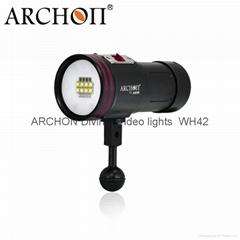ARCHON/奧瞳 潛水手電筒+潛水攝像攝影補光燈D36VR 5200流明 VIDEO 100米
