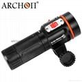 Archon奧瞳專業潛水手電筒 D35VP 聚光+散光 多用途 潛水攝影 video  拍照 3