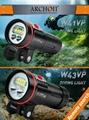 ARCHON奥瞳D37VP专业潜水手电筒+潜水摄影补光灯 防水散光充电18650潜水装备