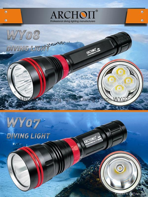 ARCHON奥瞳 DY01潜水手电筒 强光 远射 专业潜水灯 电筒 1000流明 100米  3