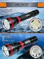 ARCHON奥瞳 DY01潜水手电筒 强光 远射 专业潜水灯 电筒 1000流明 100米