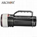 ARCHON奥瞳专业潜水手电筒 超强光led 防水 直充 摄影 摄像 补光灯 DG150W 3