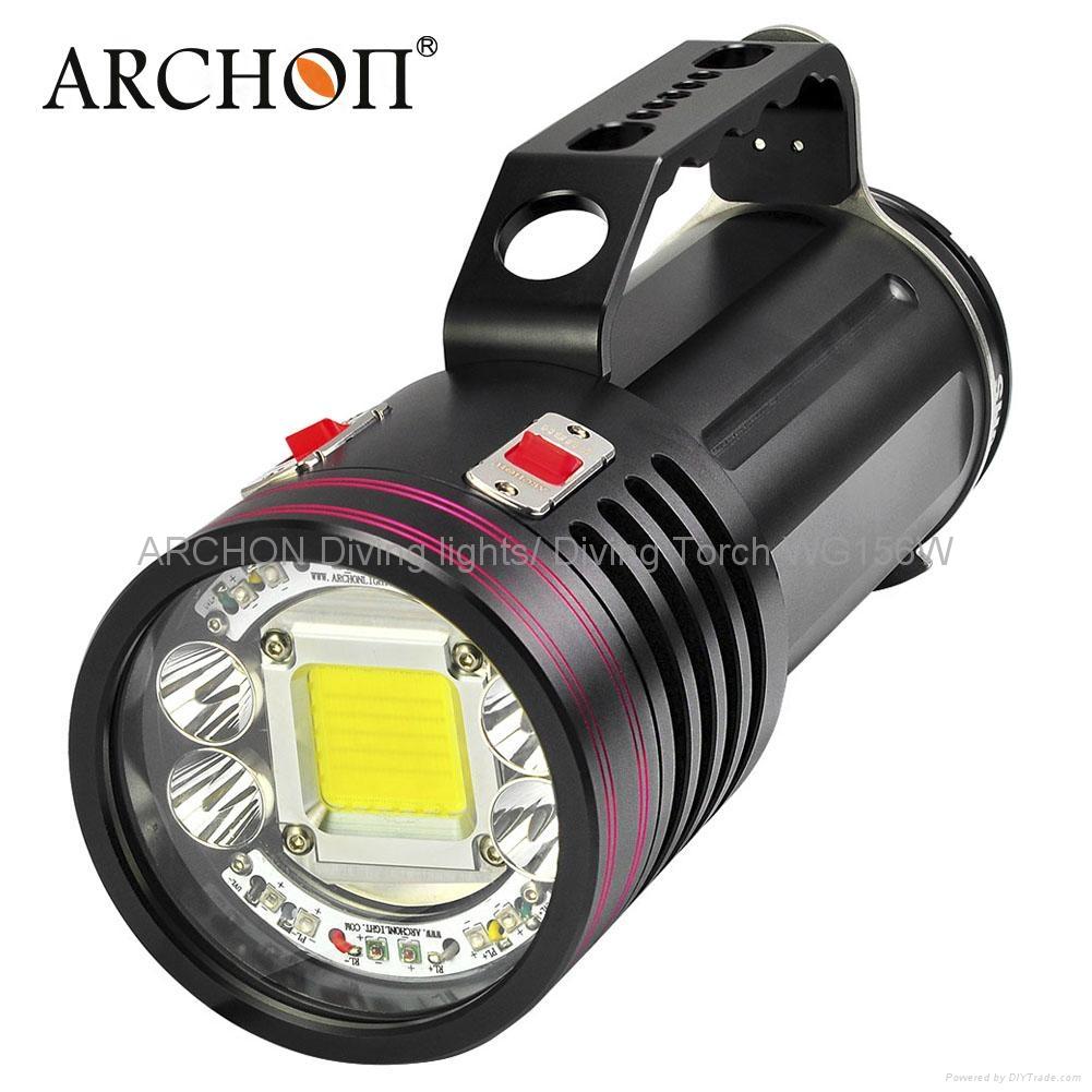 ARCHON奧瞳專業潛水手電筒 超強光led 防水 直充 攝影 攝像 補光燈 DG150W 1