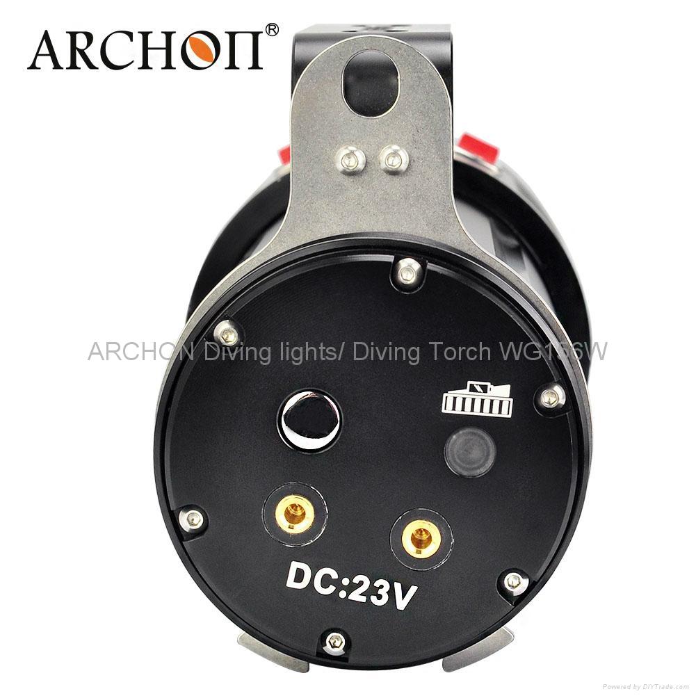 ARCHON奧瞳專業潛水手電筒 超強光led 防水 直充 攝影 攝像 補光燈 DG150W 4
