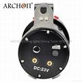 ARCHON奥瞳专业潜水手电筒 超强光led 防水 直充 摄影 摄像 补光灯 DG150W 4