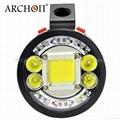 ARCHON奥瞳专业潜水手电筒 超强光led 防水 直充 摄影 摄像 补光灯 DG150W 2