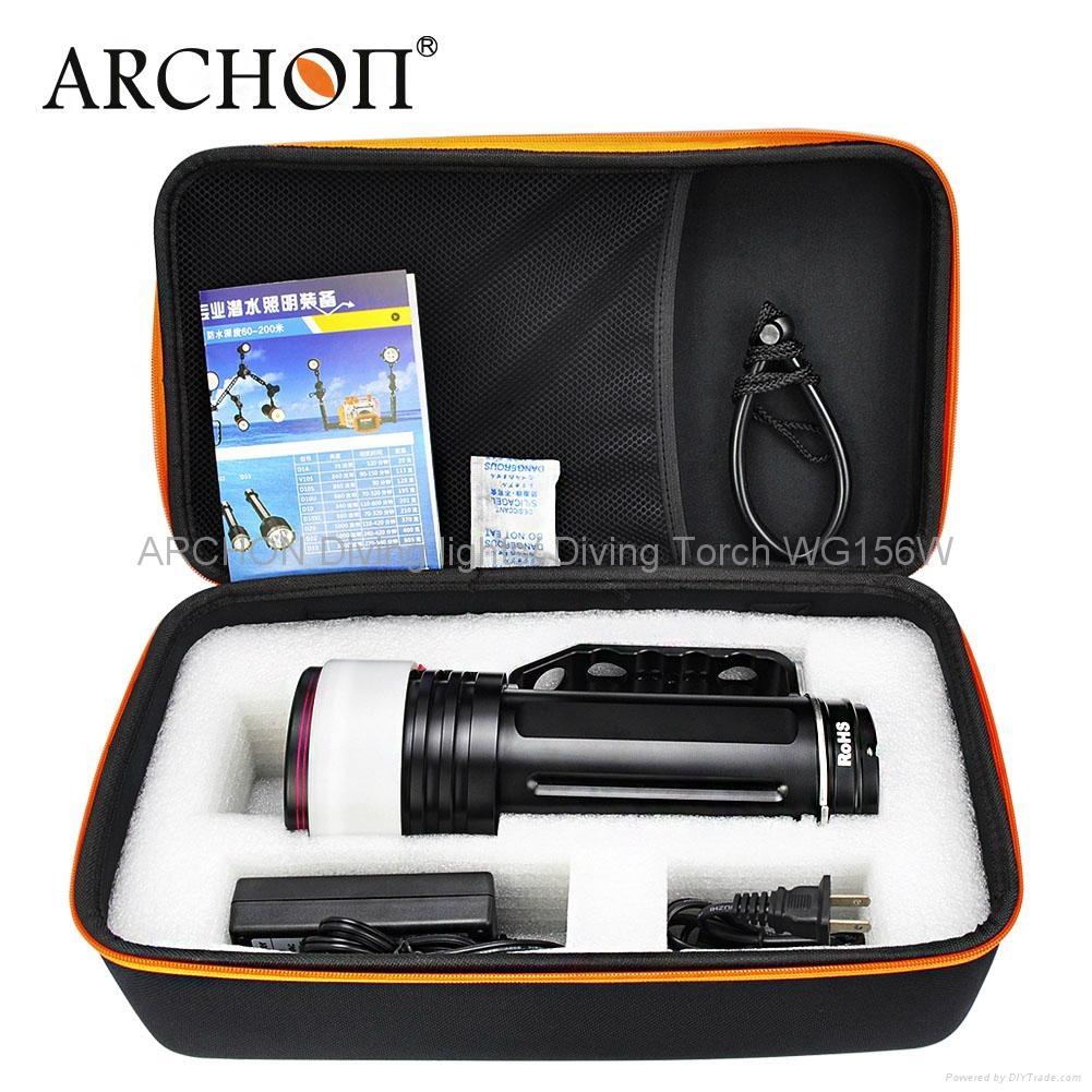 ARCHON奧瞳專業潛水手電筒 超強光led 防水 直充 攝影 攝像 補光燈 DG150W 5