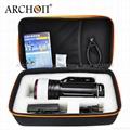 ARCHON奥瞳专业潜水手电筒 超强光led 防水 直充 摄影 摄像 补光灯 DG150W 5
