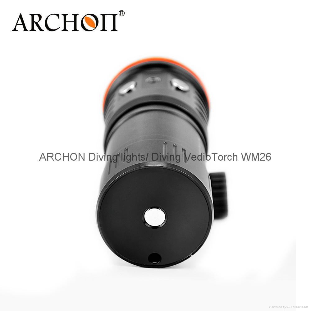 ARCHON奧瞳DM20專業強光潛水手電筒 LED潛水攝影補光燈 5200 流明  散光+聚光  4