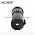 ARCHON奥瞳DM20专业强光潜水手电筒 LED潜水摄影补光灯 5200 流明  散光+聚光