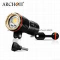 ARCHON奧瞳DM20專業強光潛水手電筒 LED潛水攝影補光燈 5200 流明  散光+聚光