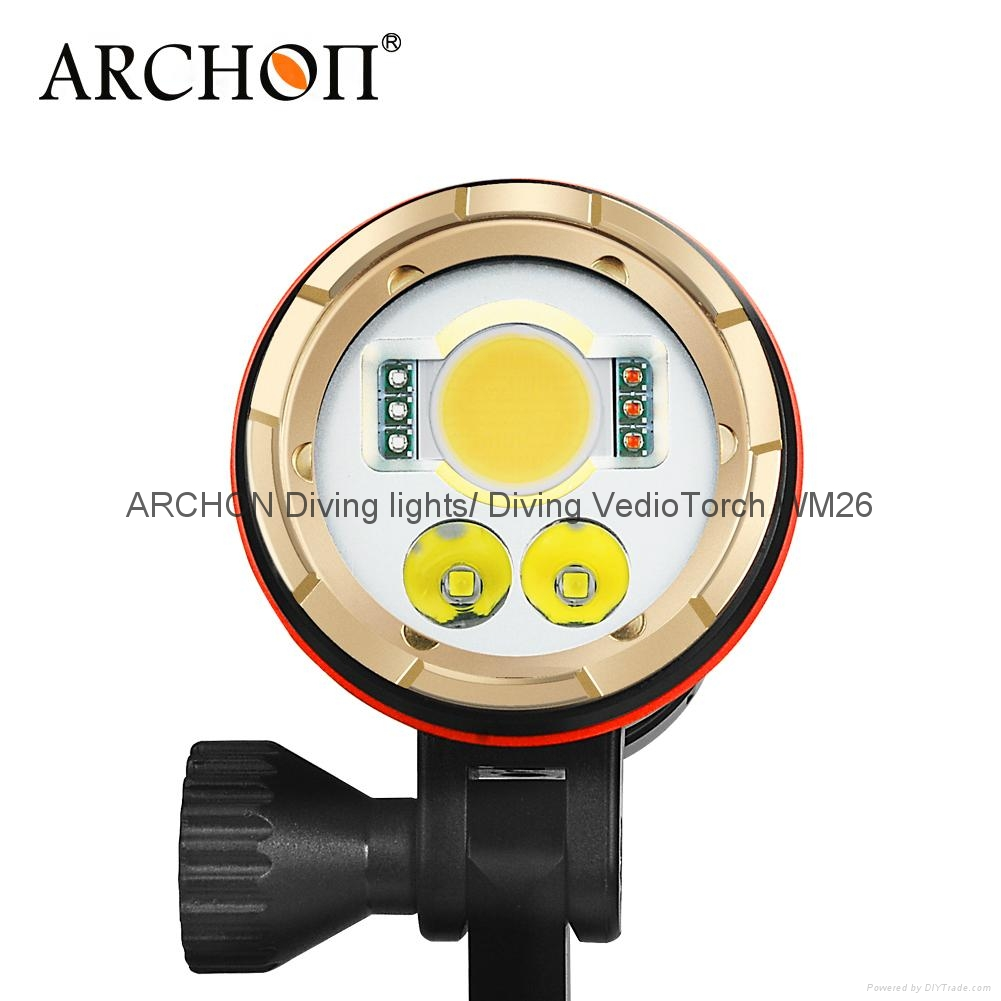 ARCHON奧瞳DM20專業強光潛水手電筒 LED潛水攝影補光燈 5200 流明  散光+聚光  2