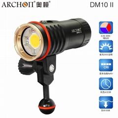 ARCHON奧瞳DM10-II專業潛水攝影攝像補光手電筒