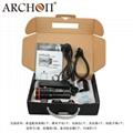 ARCHON奥瞳DM20-II专业潜水手电筒摄影摄像补光灯微距束光筒 5