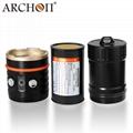 ARCHON奥瞳DM20-II专业潜水手电筒摄影摄像补光灯微距束光筒 4