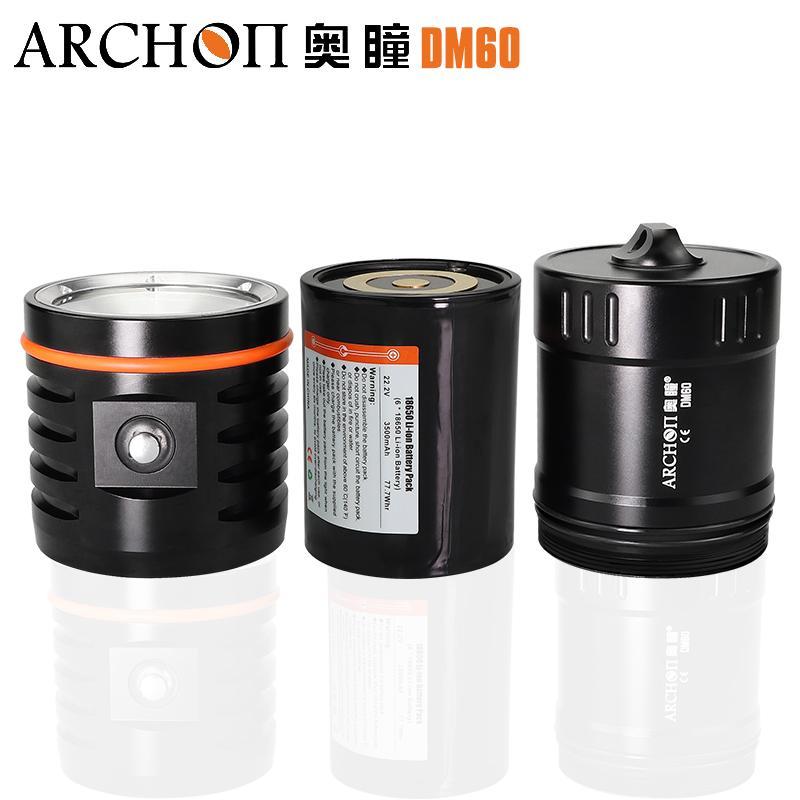 ARCHON奥瞳DM60专业潜水摄影摄像补光灯 12000流明 3
