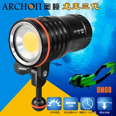 ARCHON奥瞳DM60专业潜水摄影摄像补光灯 12000流