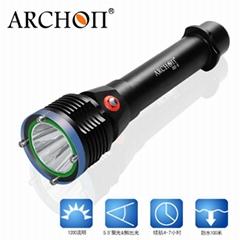 ARCHON奥瞳D22-II专业潜水手电筒按钮式1200流明续航4小时