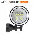 Archon奥瞳专业潜水手电筒 D35VPII 聚光+散光 潜水摄影video补光灯 2