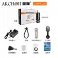 Archon奧瞳專業潛水手電筒 D35VPII 聚光+散光 潛水攝影video補光燈 5