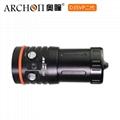Archon奥瞳专业潜水手电筒 D35VPII 聚光+散光 潜水摄影video补光灯 3