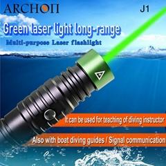 ARCHON奧瞳J1潛水綠激光手電筒 1W激光筆  射程大於500米