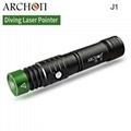 ARCHON奥瞳J1潜水绿激光手电筒 1W激光笔  射程大于500米 3