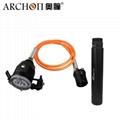 Archon奧瞳DH30II分體式潛水手電筒 強光遠射充電防水探照燈 3600流明 4