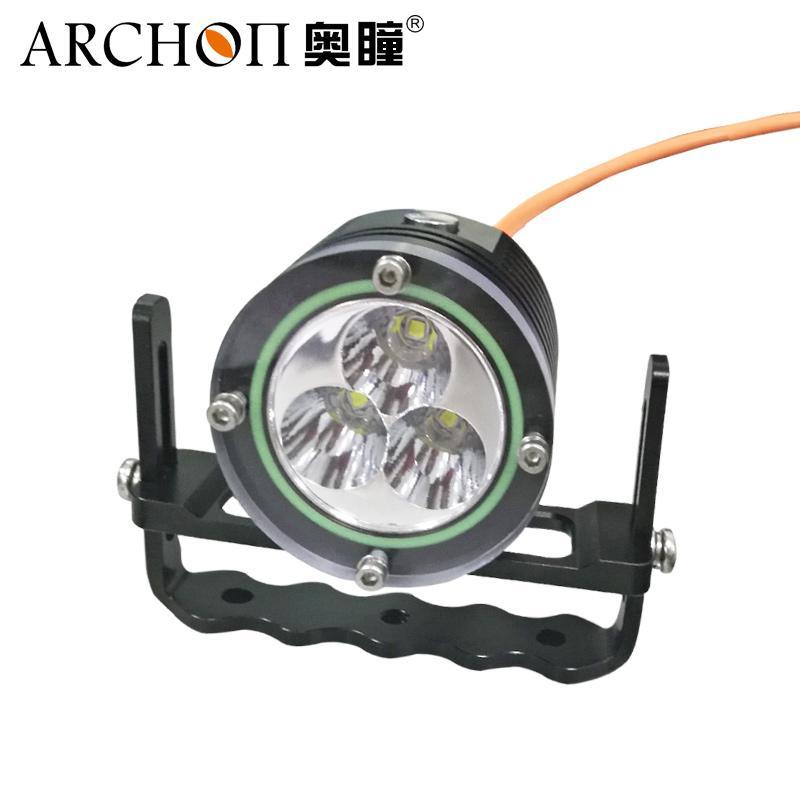 Archon奧瞳DH30II分體式潛水手電筒 強光遠射充電防水探照燈 3600流明 2