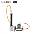 Archon奧瞳DH30II分體式潛水手電筒 強光遠射充電防水探照燈 3600流明 3