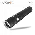 ARCHON奥瞳V10P专业潜水手电筒 21700锂电池 USB快速充电 100米潜水设备 5