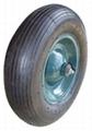Rubber wheel/pneumatic tyre/wheelbarrow tire/air tyre and tube (16 X 4.00-8)