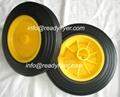 Plastic bin wheel