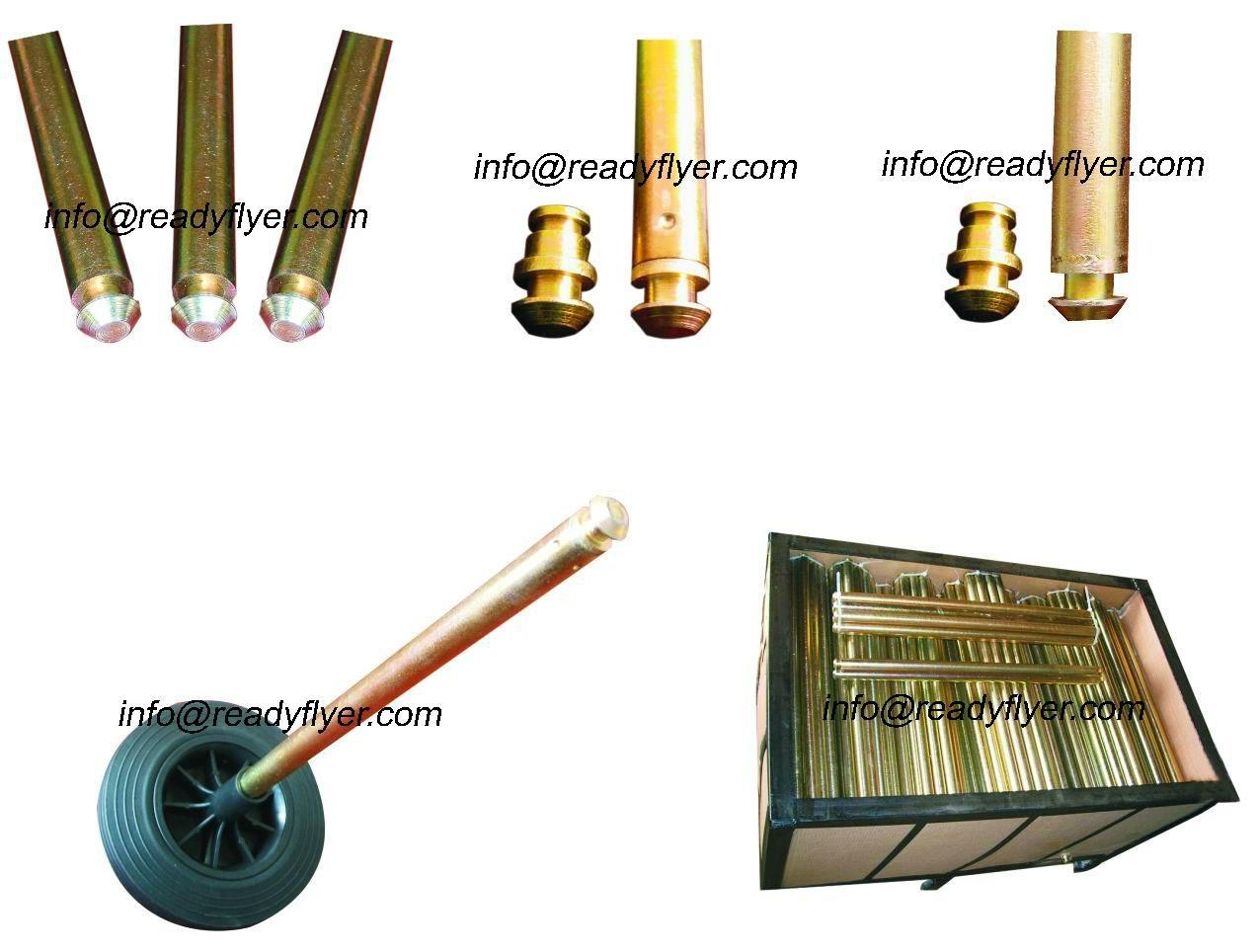 wheelie bin axle / hollow axle / solid axle