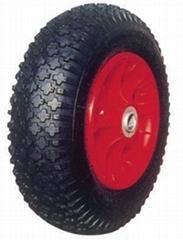 wheelbarrow tyre,Pneumatic Wheel: PR1607 (16 X 4.00-8)