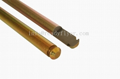 Solid axle for waste cart