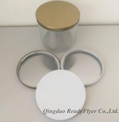 Dia 106mm lids with printed logo for 14oz essential oil candle