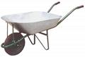 Wheelbarrow with ga  anized tray