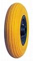 Flat Free Wheel/PU filled tyre/Rubber