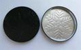 Black metal lid