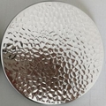 Silver metal lid for jar candle