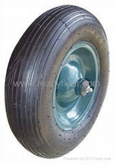 Air Wheel for wheelbarrow/wheel barrow: PR1612-1 (16 X 4.00-8)