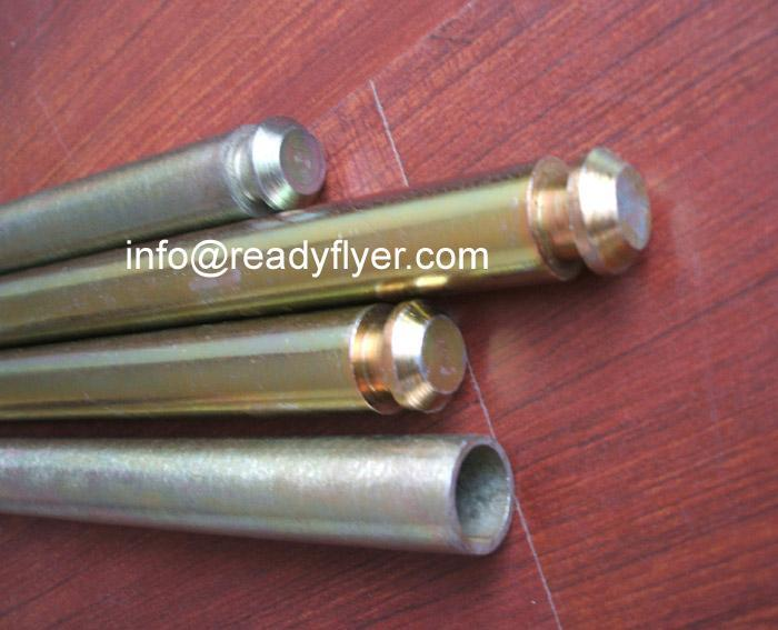 Pipe/Hollow axles for dustbins,litter can,Junk container 1