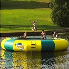 inflatable water trampol