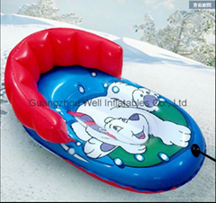 Inflatable PVC snow tube water ski tube towable tube