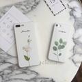 Leaf Rose Flower Pattern Print Soft Phone Cases  iPhone 6 6s 7 8 plus x